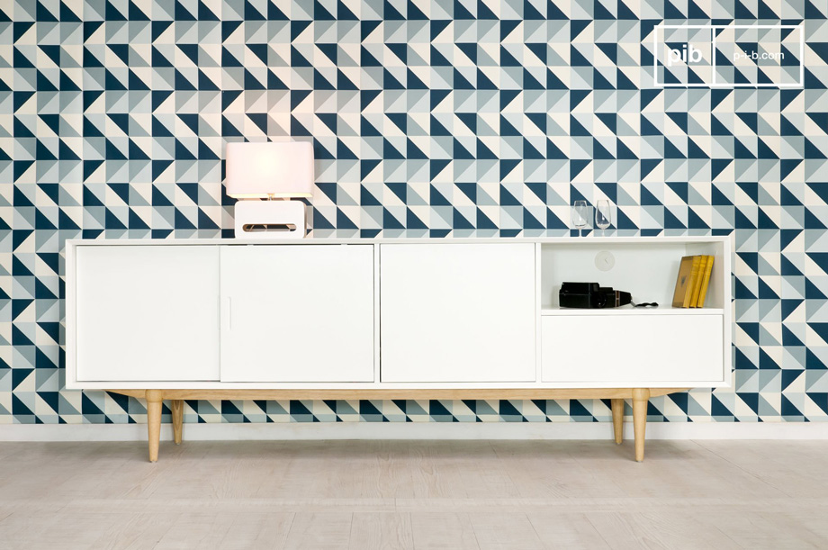 Arredare il salotto con i mobili in stile vintage scandinavo mobile tv