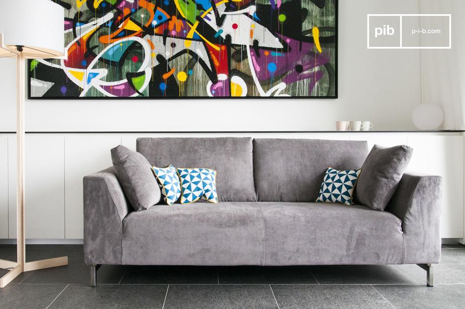 Arredare il salotto con i mobili in stile vintage scandinavo divano