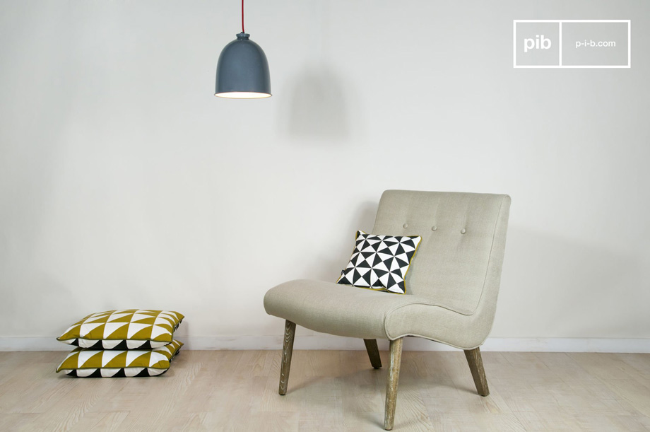 Arredare il salotto con i mobili in stile vintage scandinavo poltrona