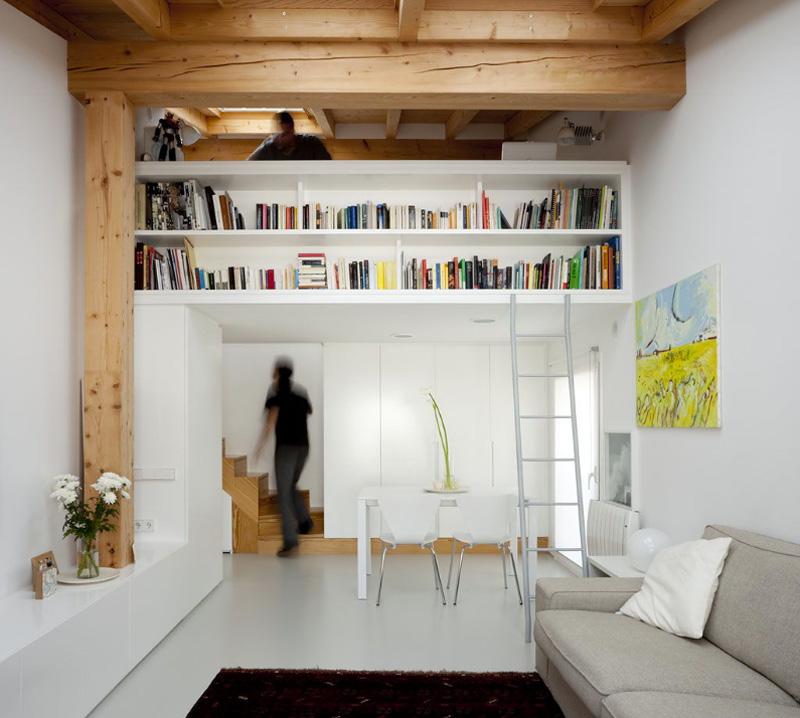 Arredare piccoli spazi vivere e lavorare in 40 mq mezzanino