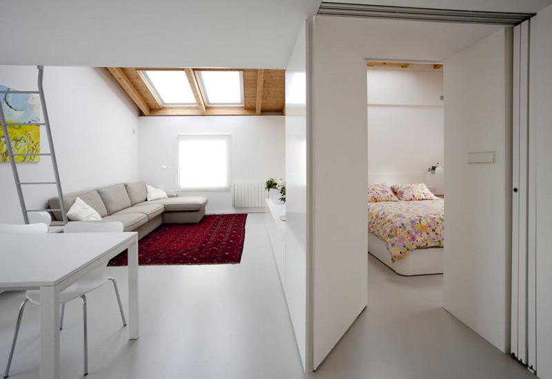 Arredare piccoli spazi vivere e lavorare in 40 mq soggiorno camera