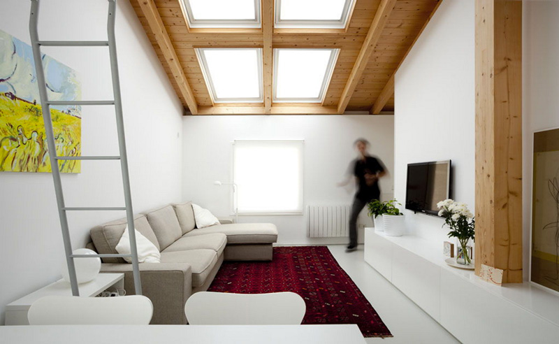 Arredare piccoli spazi vivere e lavorare in 40 mq soggiorno