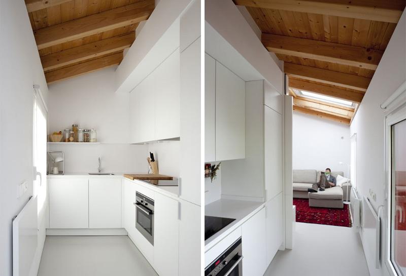 Arredare piccoli spazi vivere e lavorare in 40 mq cucina