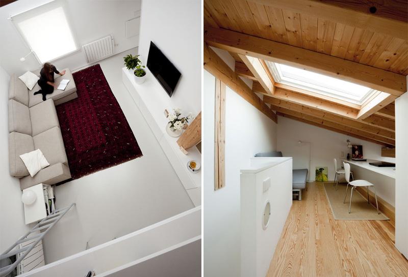 Arredare piccoli spazi vivere e lavorare in 40 mq soppalco