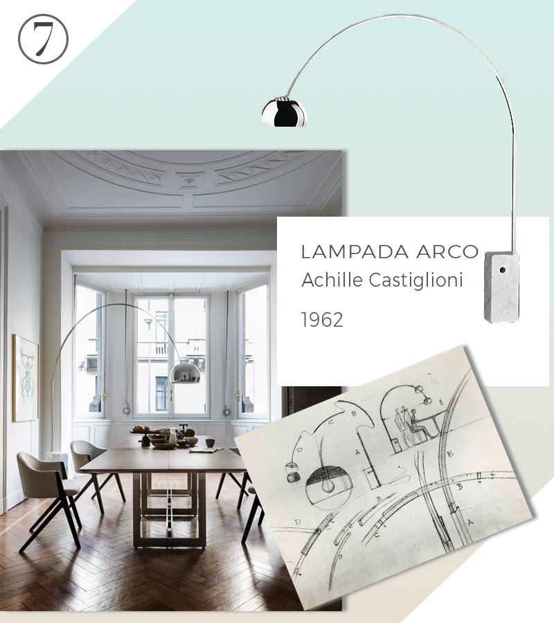 Le 10 icone del design che non passeranno mai di moda lampada arco castiglioni