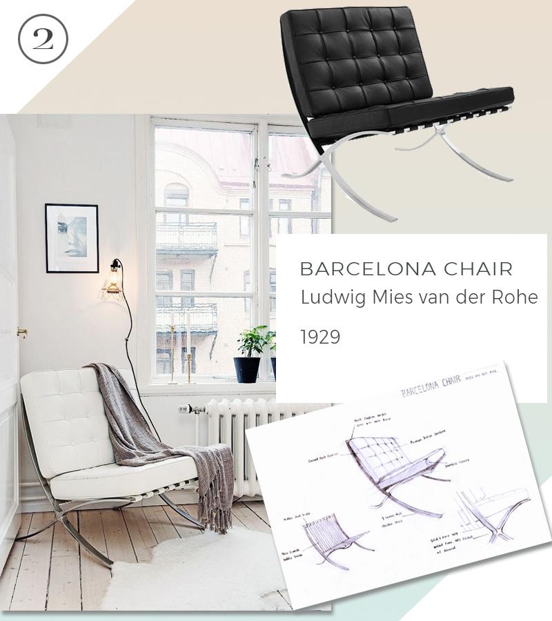 Le 10 icone del design che non passeranno mai di moda barcelona chair mies van der rohe