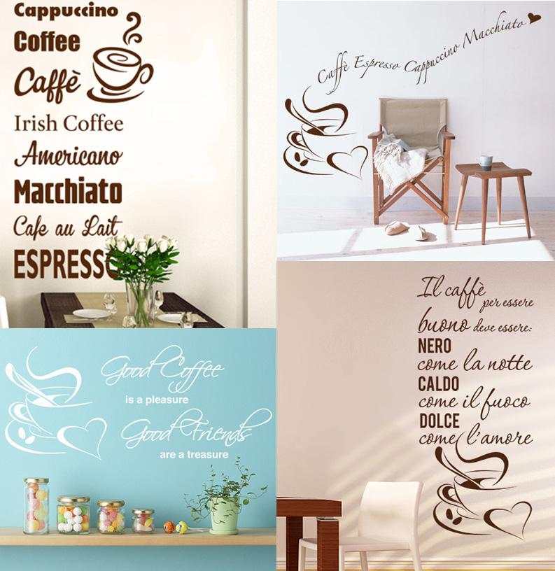 Adesivi murali per dare un tocco originale alla cucina e non solo caffé