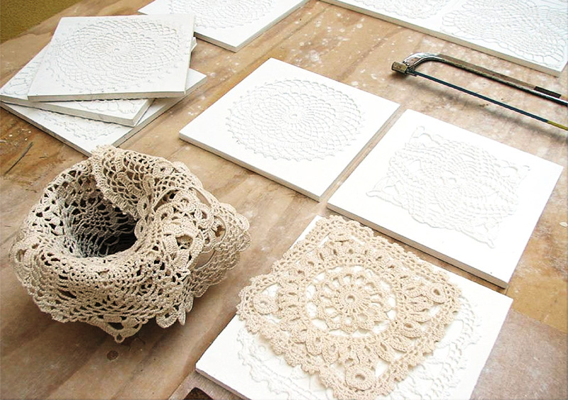 MATERIA la design week made in Catanzaro piastrelle crochet Peppino Lopez