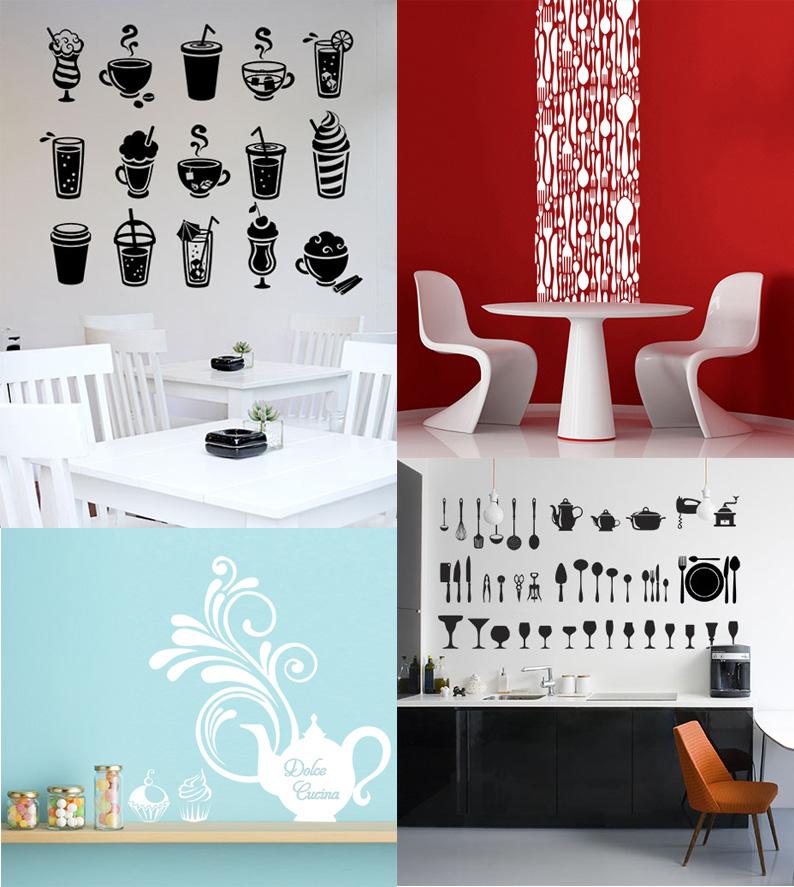 Adesivi murali per dare un tocco originale alla cucina e non solo grafica