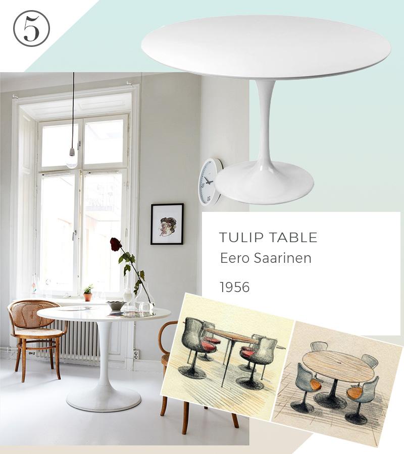 Le 10 icone del design che non passeranno mai di moda tulip table eero saarinen