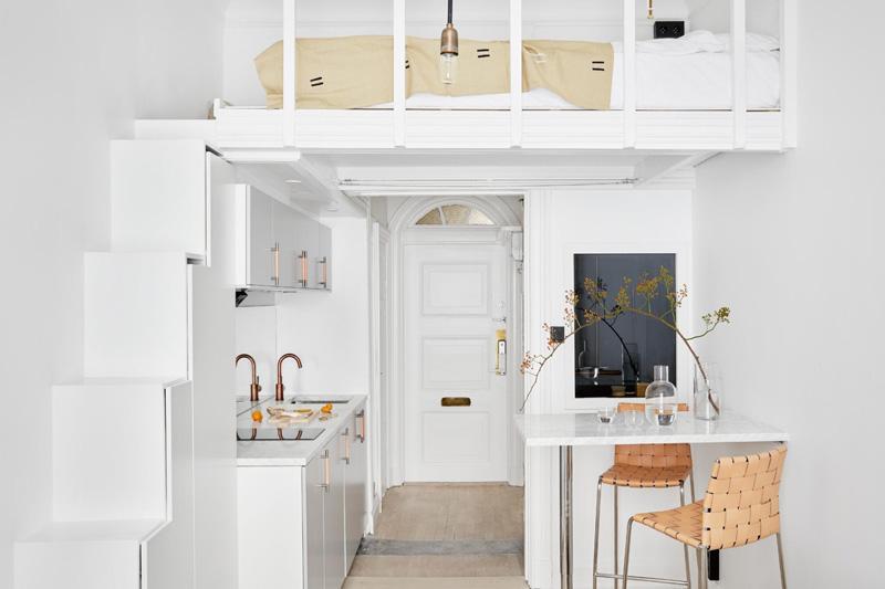Mobili Per Arredare Piccoli Spazi : Arredare piccoli spazi: 18 mq con classe la gatta sul tetto