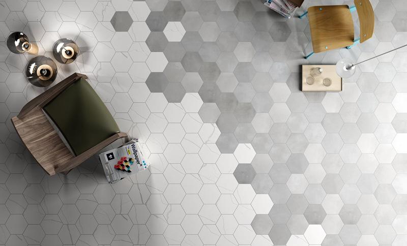 Cersaie le tendenze 2018 per i rivestimenti in ceramica piastrelle esagonali 41zero42