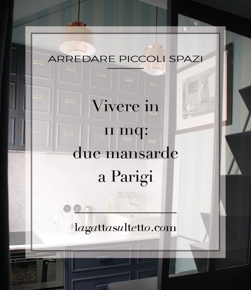 vivere in 11 mq due mansarde a Parigi