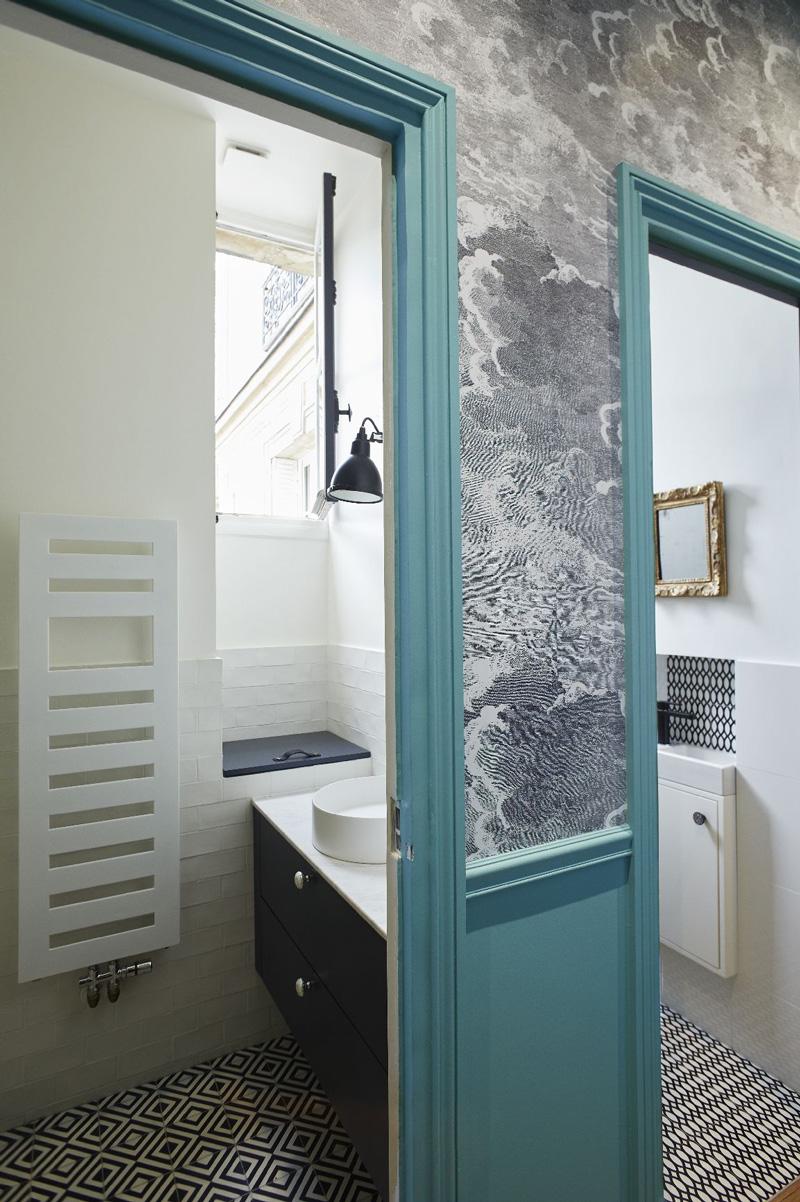 Un appartamento haussmaniano rinnovato con stile boiserie tapezzeria