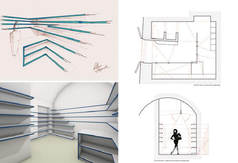 Intervista all'architetto Alessio Zanzarella Sea Sou Souvenir Store progetto