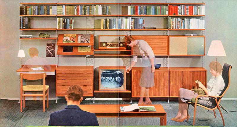 Icone del design la libreria e scaffali String System