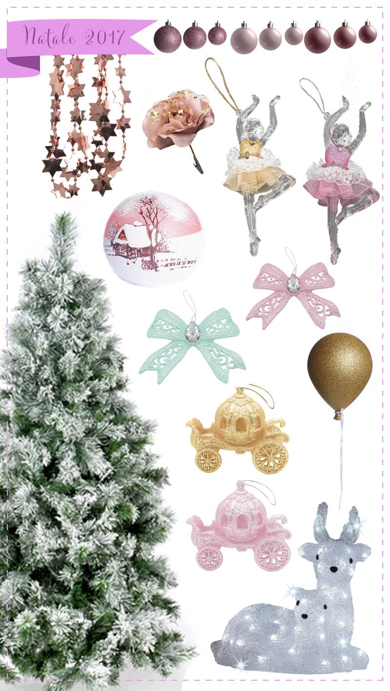Natale 2017 il magico mondo dell'infanzia addobbi principessa rosa verdi