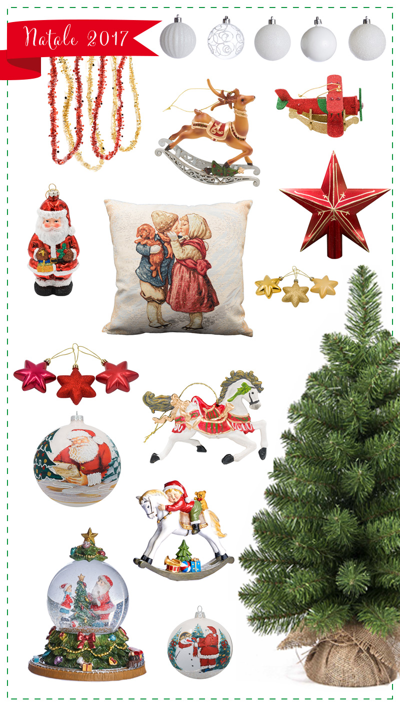 Natale 2017 il magico mondo dell'infanzia addobbi rossi verdi oro