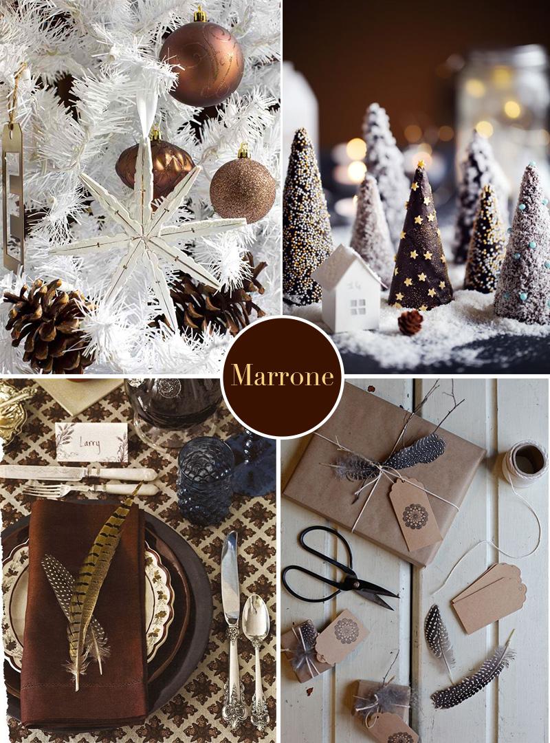Natale 2017: colori insoliti per una decorazione sorprendente marrone