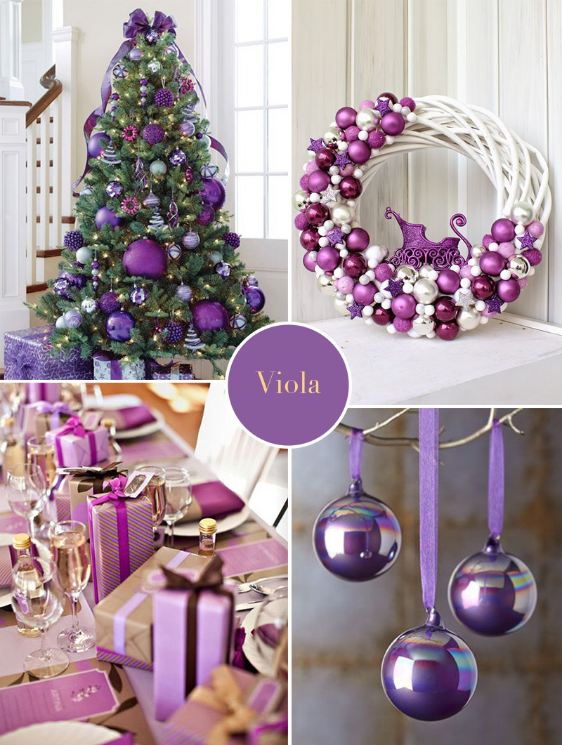 Natale 2017: colori insoliti per una decorazione sorprendente viola