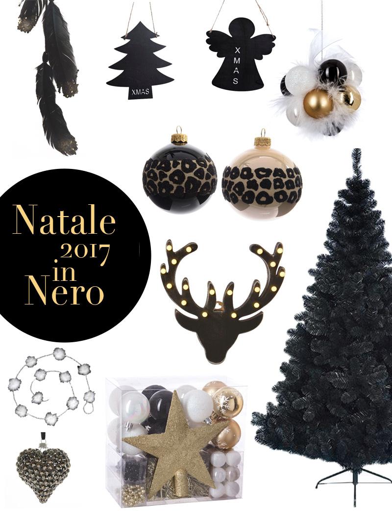 Natale 2017 colori insoliti per una decorazione sorprendente nero