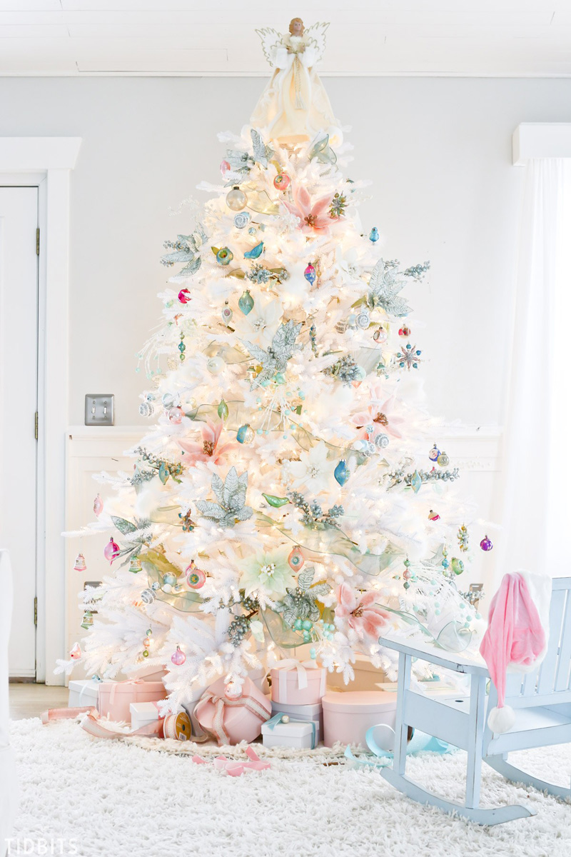 Christmas Home Tour 2017 decorazioni natalizie shabby chic color pastello