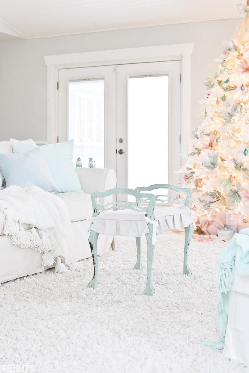 Christmas Home Tour 2017 decorazioni natalizie shabby chic color pastello