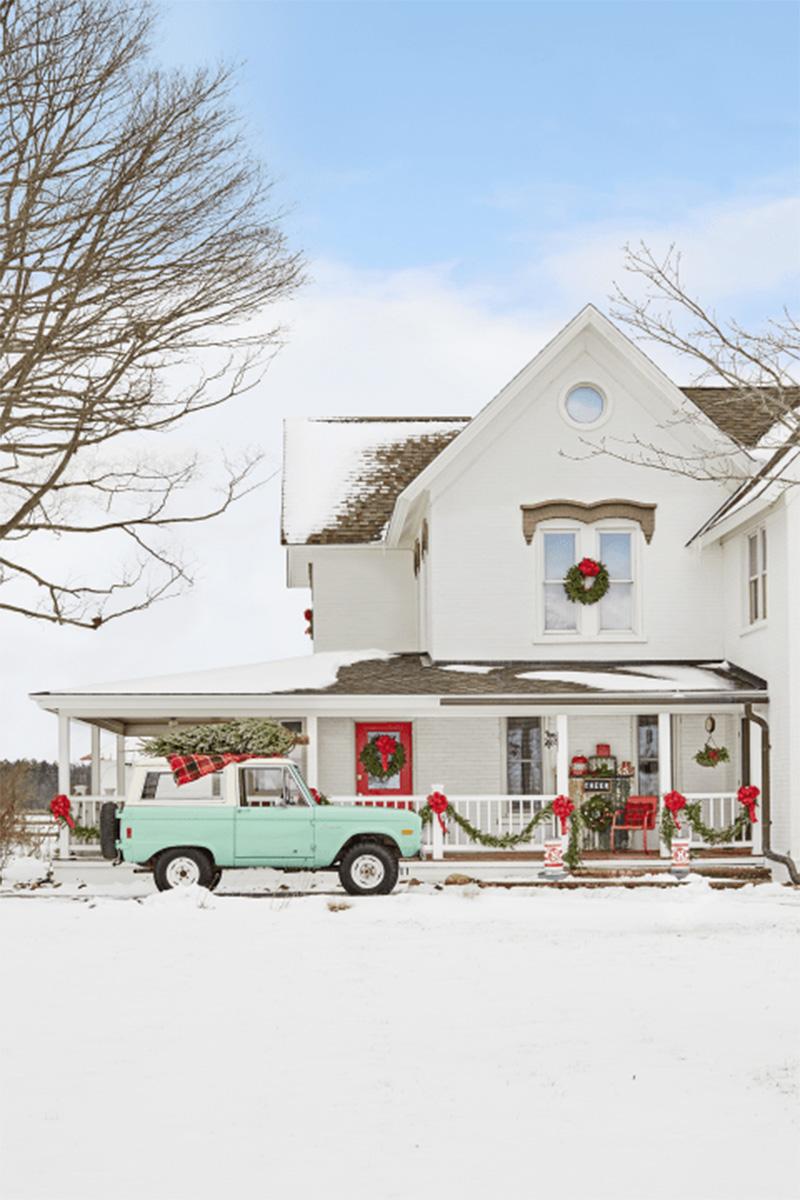 Christmas home Tour autentico stile country americano