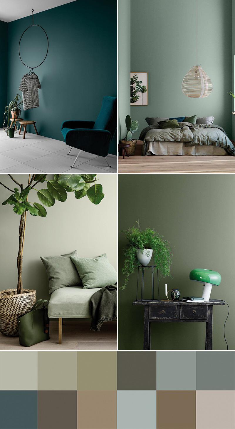 Tendenze colori arredamento 2018 il verde jotun