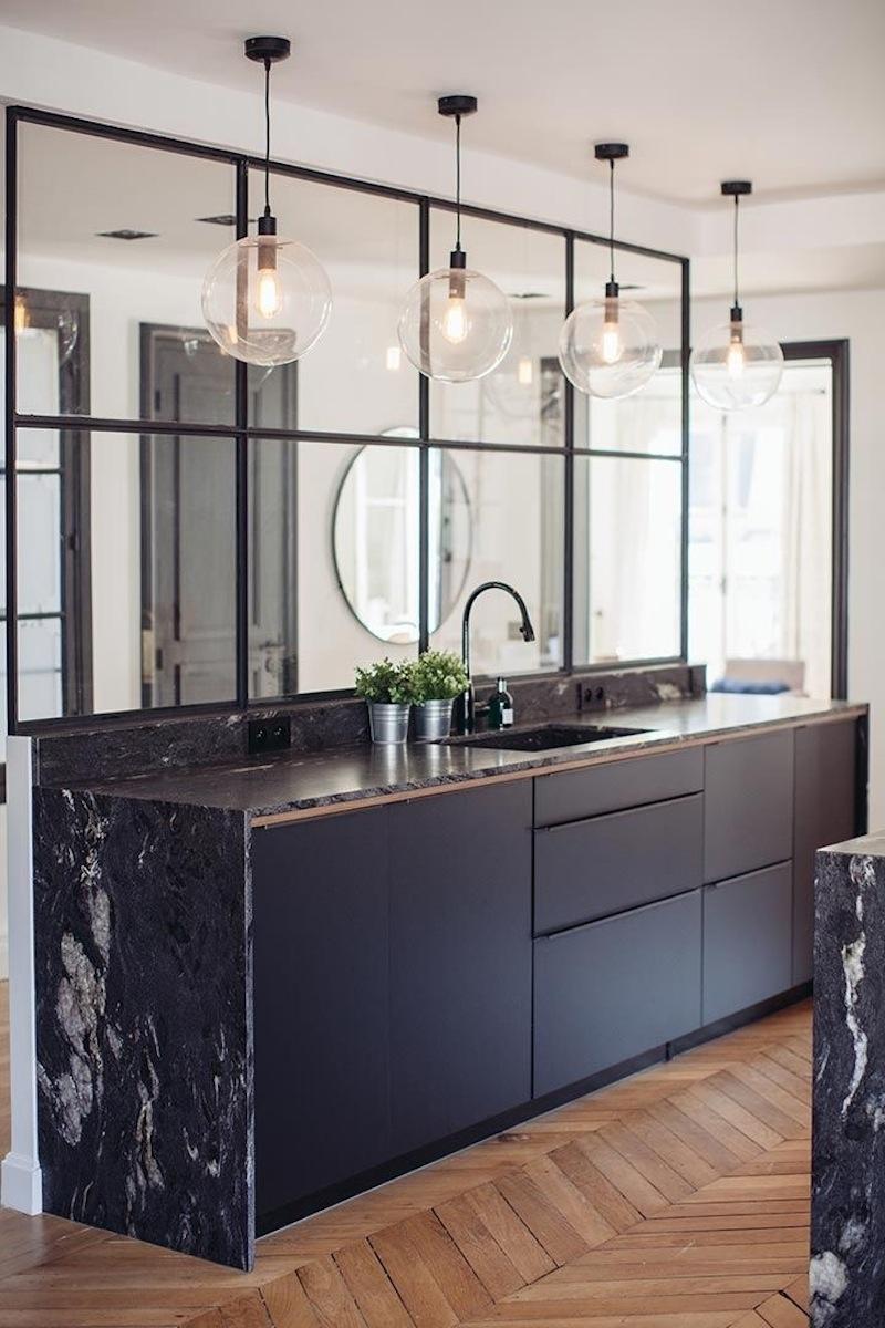 Tendenze arredo 2018 il trionfo del marmo nero cucina nera