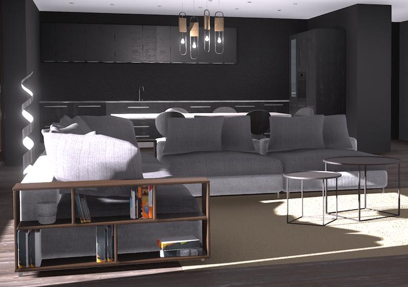 Progettare la tua casa non è mai stato così facile rendering 3d salotto