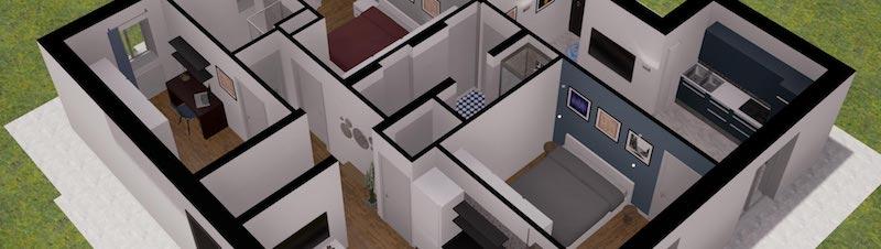 Progettare la tua casa non è mai stato così facile vista dall'alto