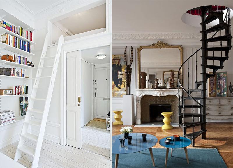 Le scale da interni di tendenza scala a chicciola e salvaspazio