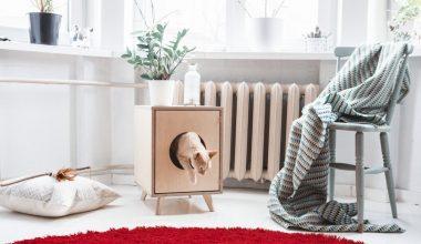 la casa a misura di gatto cuccia legno su piedini