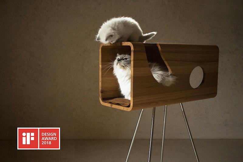 la casa a misura di gatto cuccia di design vincitrice award 2018