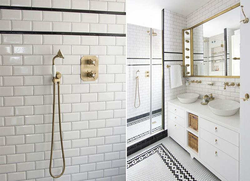 casa a Barcellona tra stile scandi e retro bagno piastrelle metro