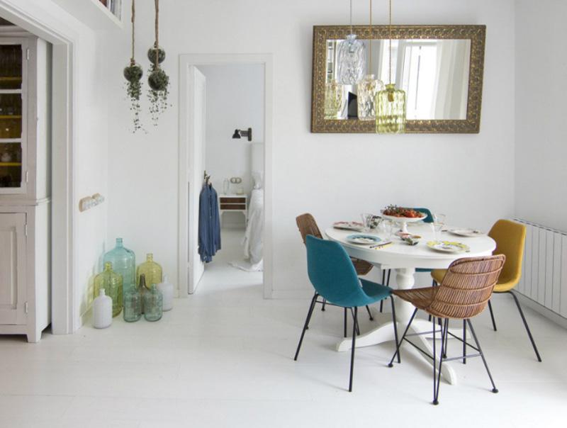 casa a Barcellona tra stile scandi e retro salotto
