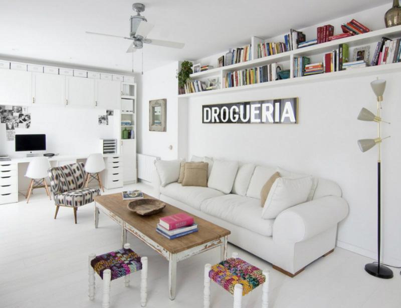 casa a Barcellona tra stile scandi e retro salotto studio