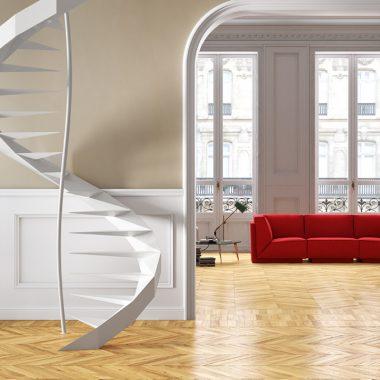 Le scale da interni di tendenza scala a chicciola
