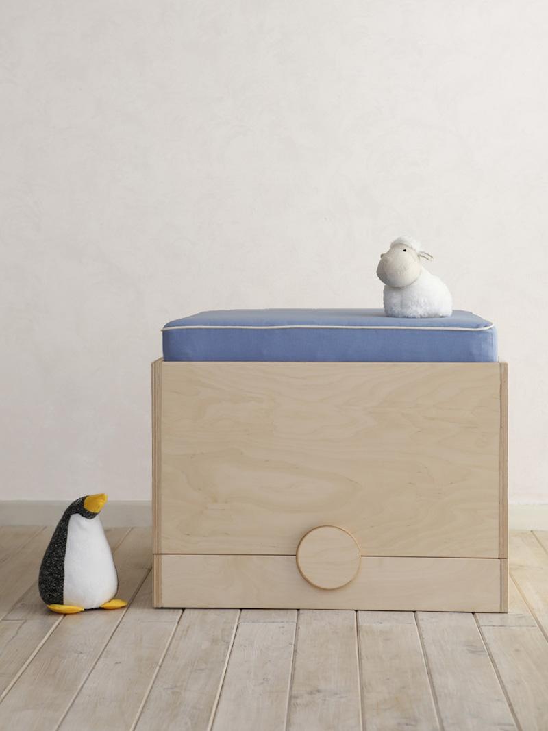Matata il lettino trasformabile di design pouf cameretta