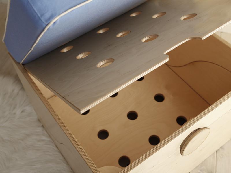 Matata il lettino trasformabile di design contenitore