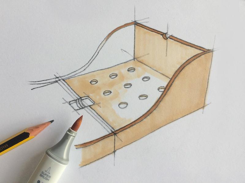 Matata il lettino trasformabile di design schizzo