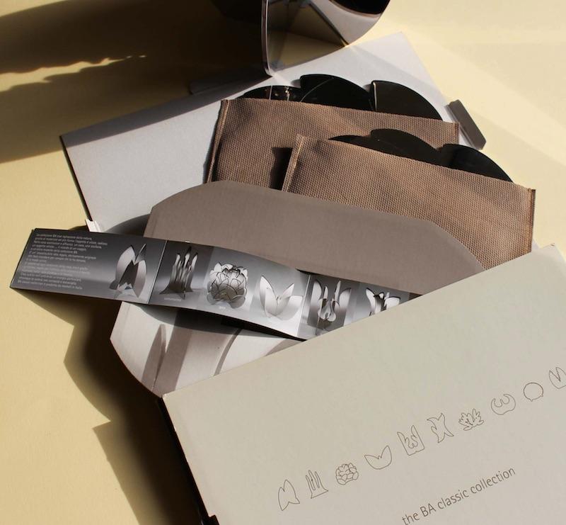 L'emozione della natura negli oggetti firmati Claudio Bettini packaging