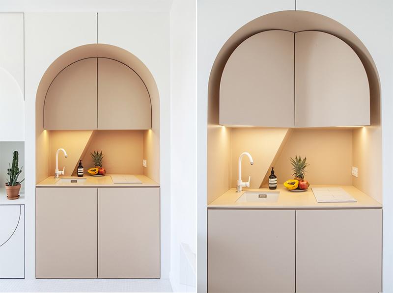 appartamento di 11mq a Parigi mini cucina