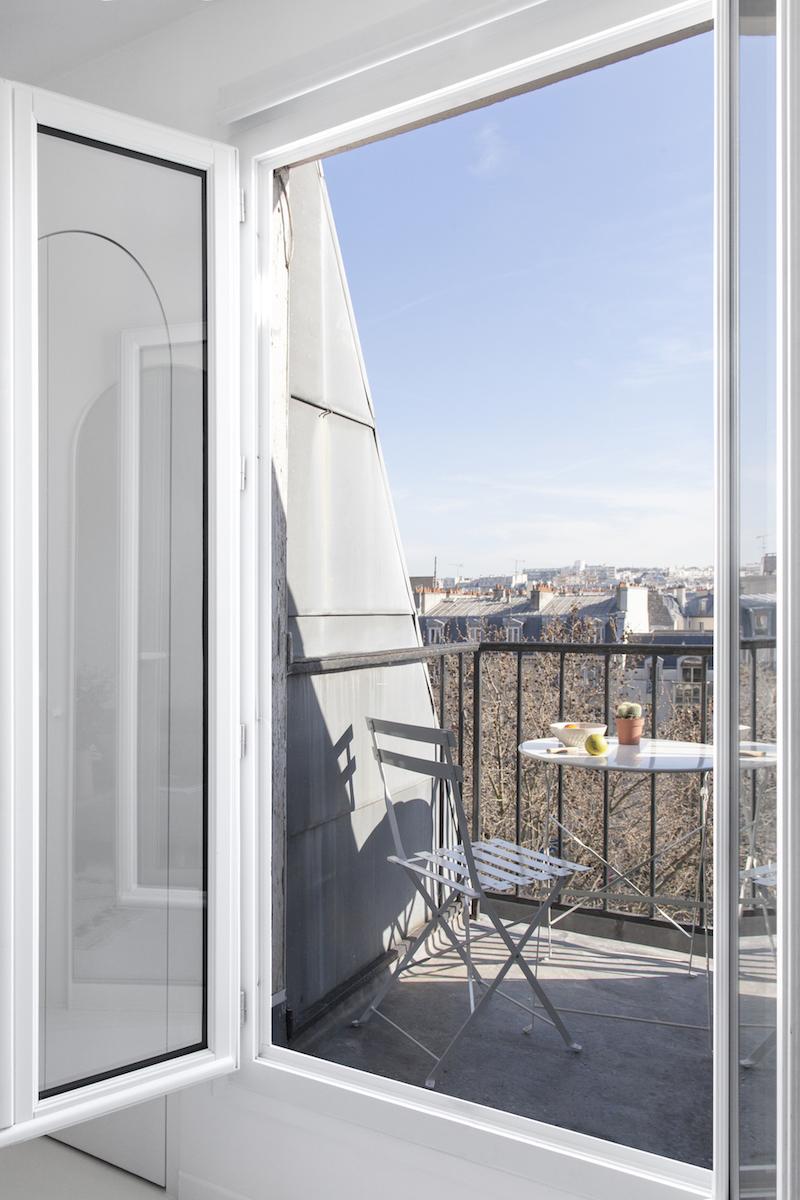 appartamento di 11mq a Parigi balcone