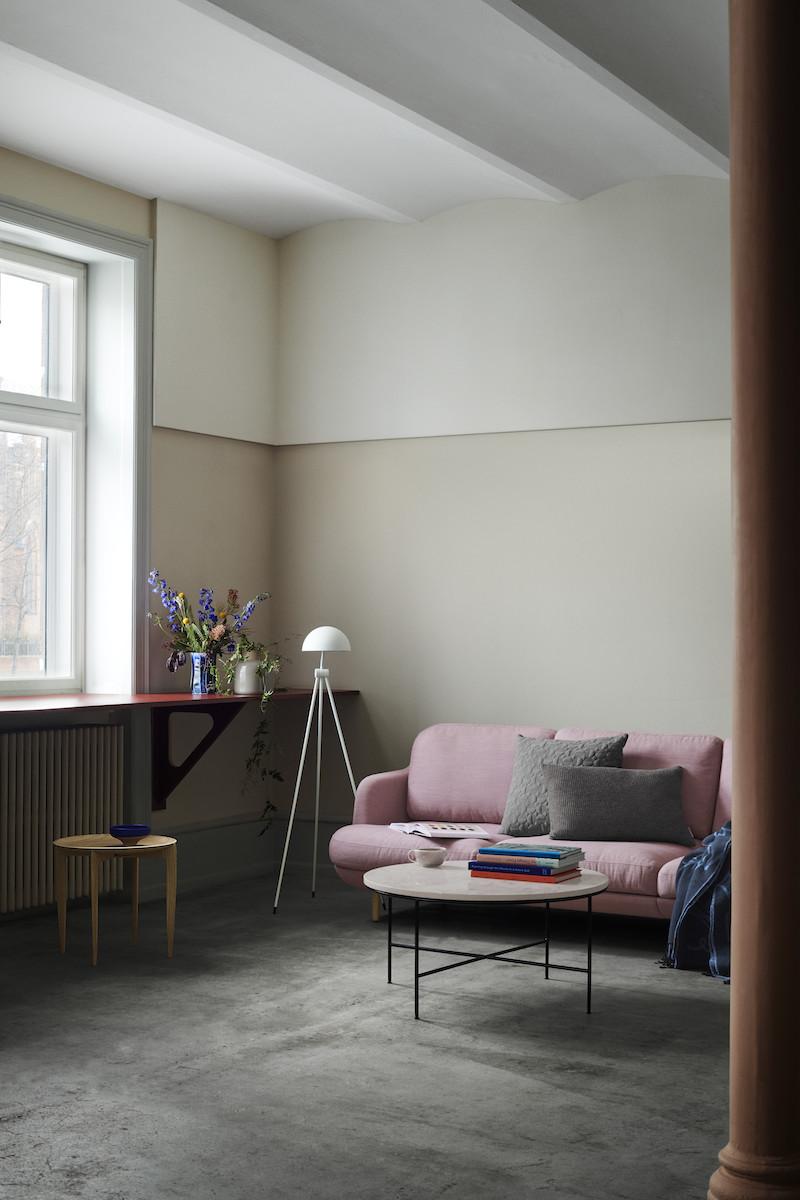 Lune sofa Planner tavolino Fritz Hansen