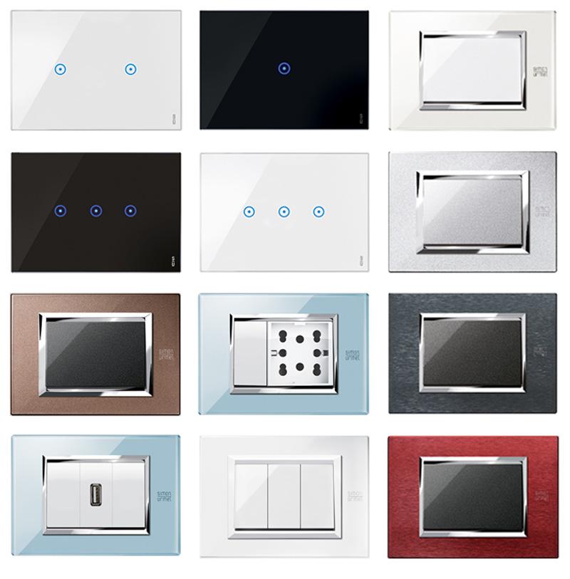 Smart Home: placche e interruttori a sfioramento placche