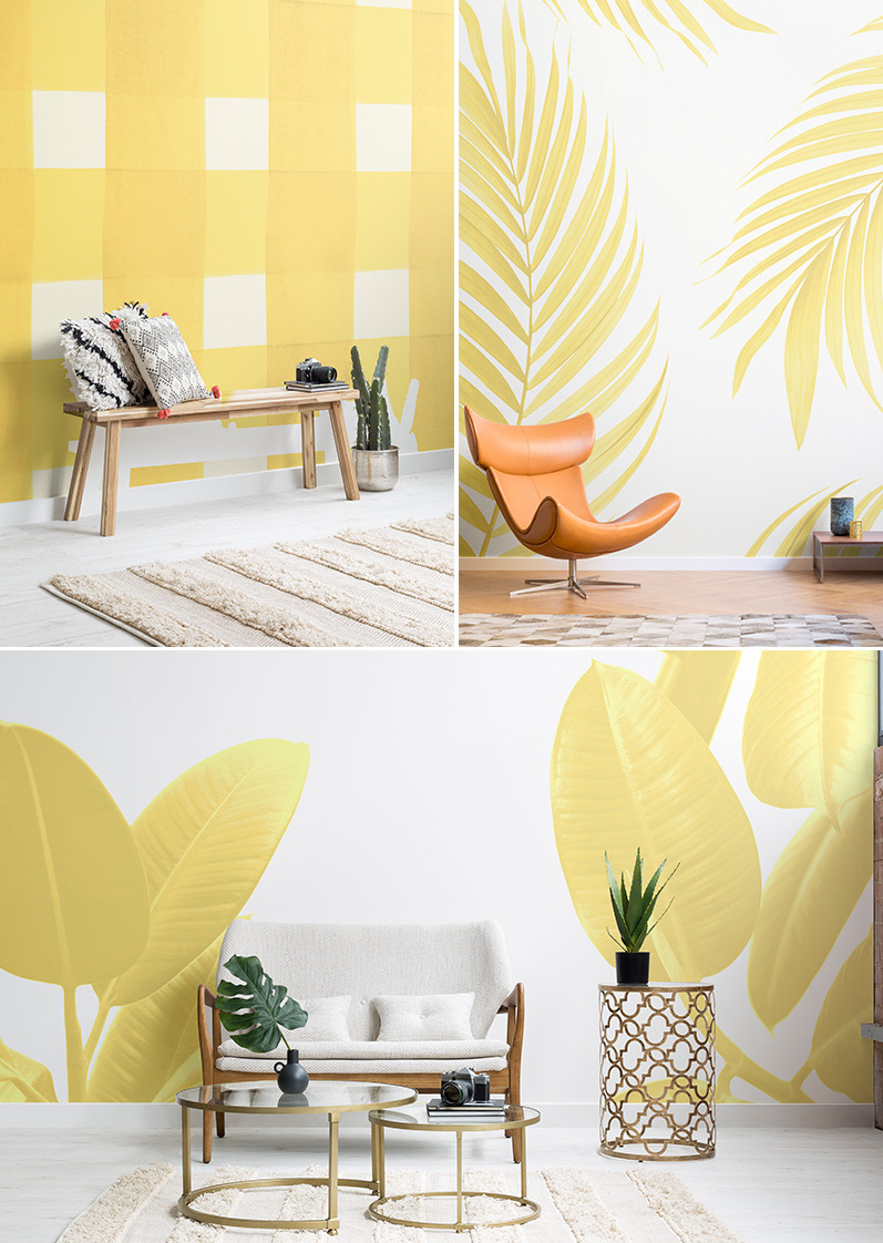 Trend alert Gen Z Yellow vs millenial pink murals wallpaper