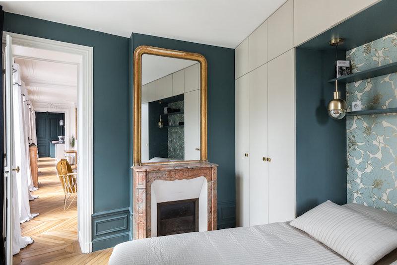 casa parigi firmata interior designer caroline andreoni camera da letto