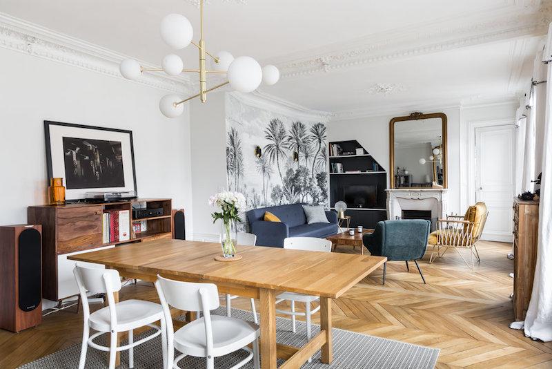 casa parigi firmata interior designer caroline andreoni zona living
